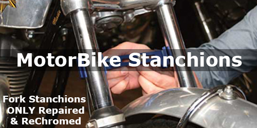 Motorcycle Motorbike Fork Stanchions Repaired and Rechromed